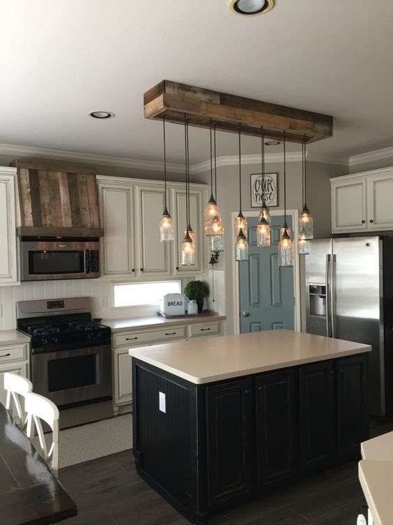 kitchen lighting fixture in industrial style.