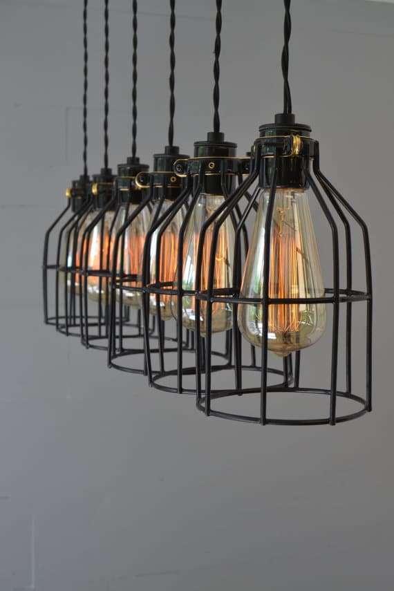 kitchen lighting fixture made of metal