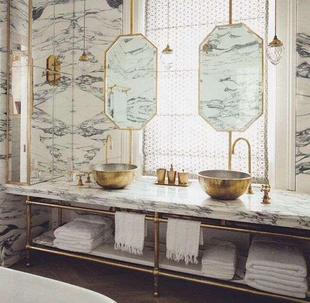 Specchio per bagno doppio 10 idee minimal for Specchi per bagno