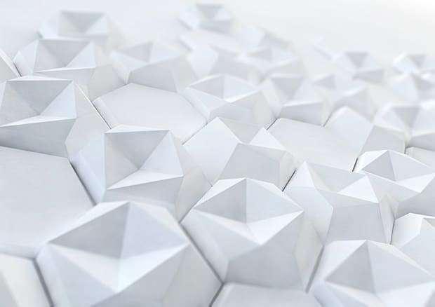 Idee rivestimento bianco tridimensionale