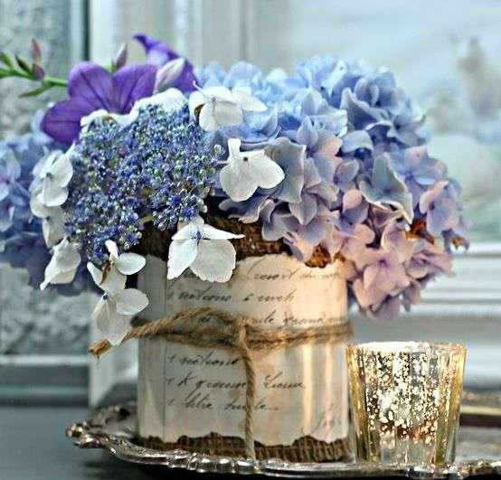 composizioni floreali con ortensie