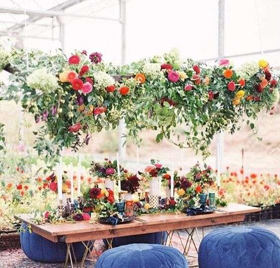 composizioni floreali, apparecchiare la tavola