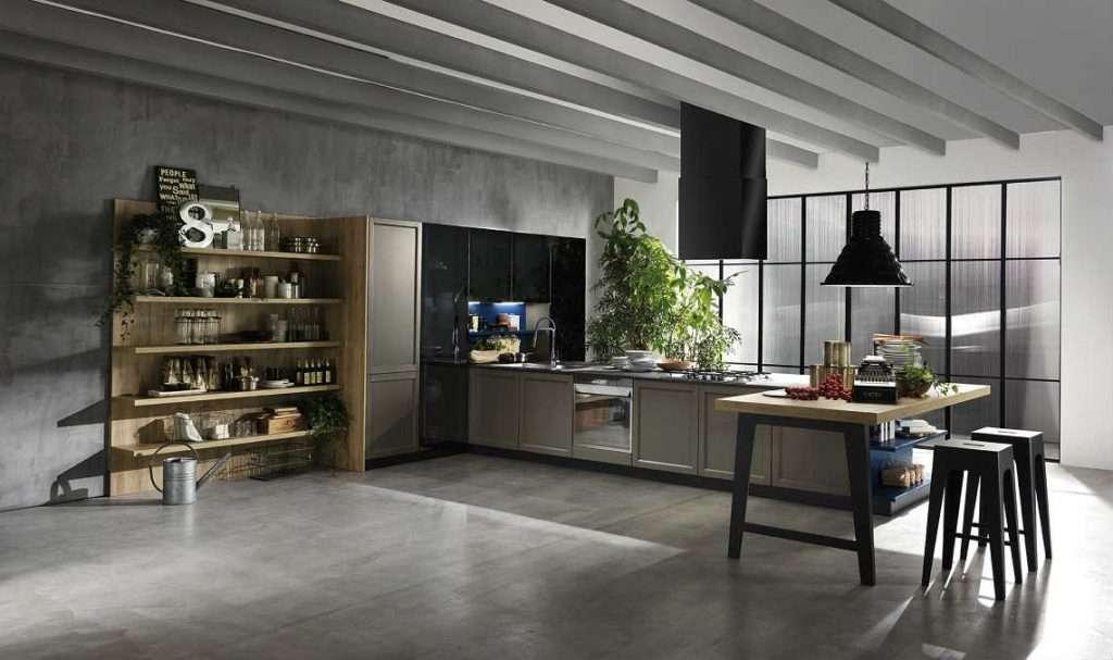 cucine in stile industriale harmony metropolitan cucinesse