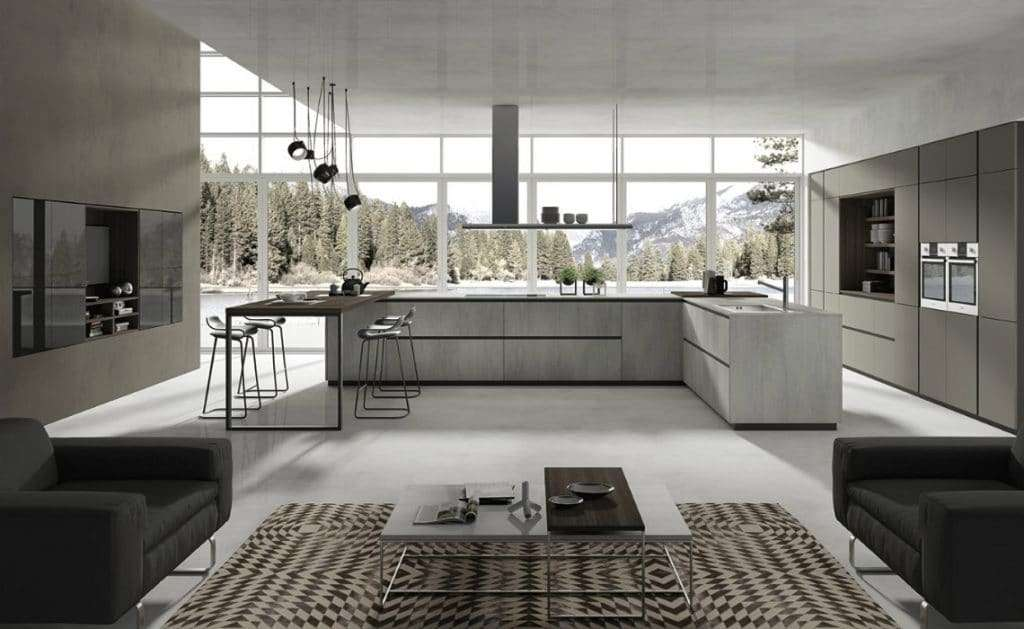 cucine in stile industriale lab cucinesse