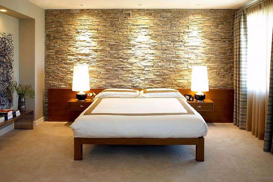 Pareti in pietra camera da letto: soluzioni ...