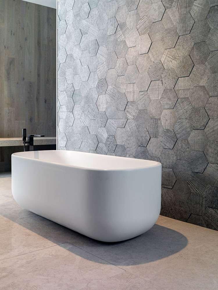 piastrelle 3d per il bagno