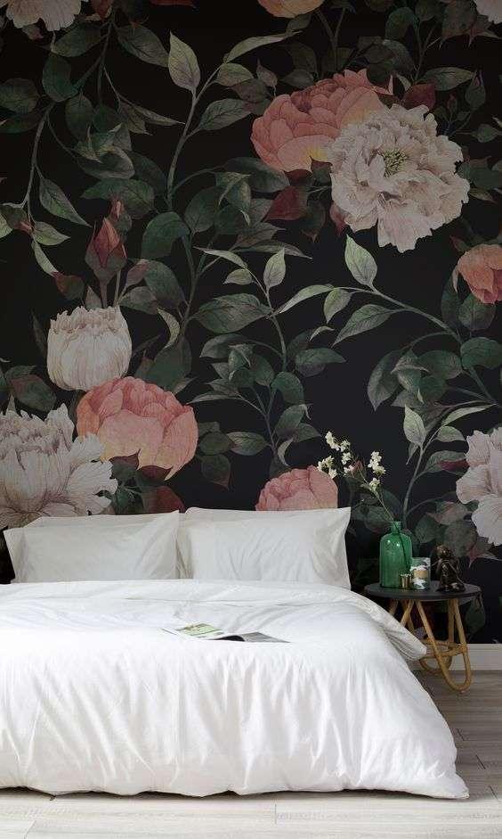 fiori rosa e bianchi per la camera da letto
