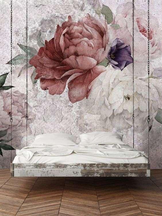 carta da parati romantica per la camera da letto