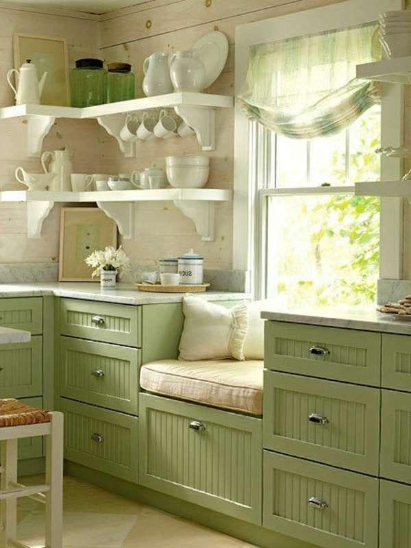 cucine provenzali verdi lineari