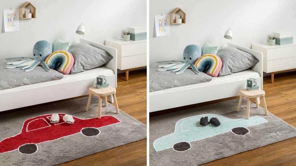 Camerette per bambini decorate con tappeti di design