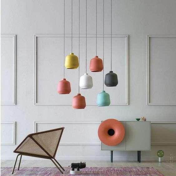 lampadari di design in ceramica