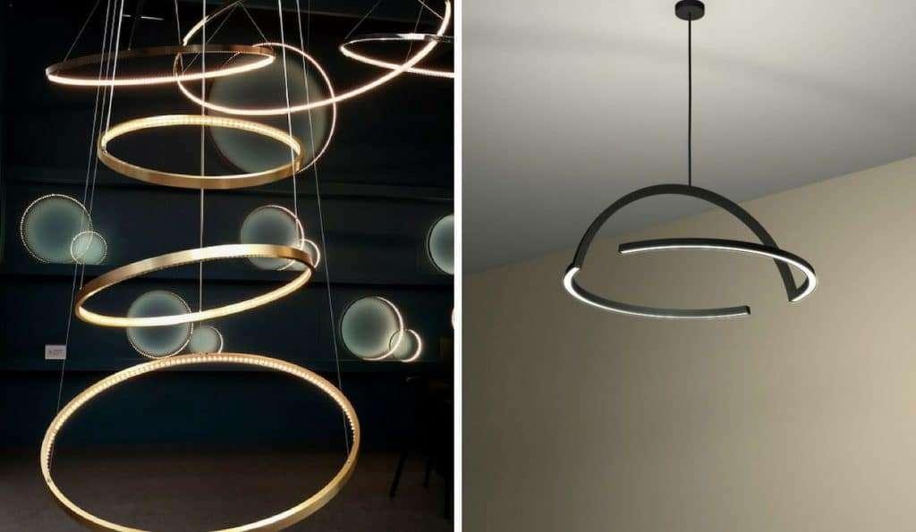 lampadari di design con forma circolare