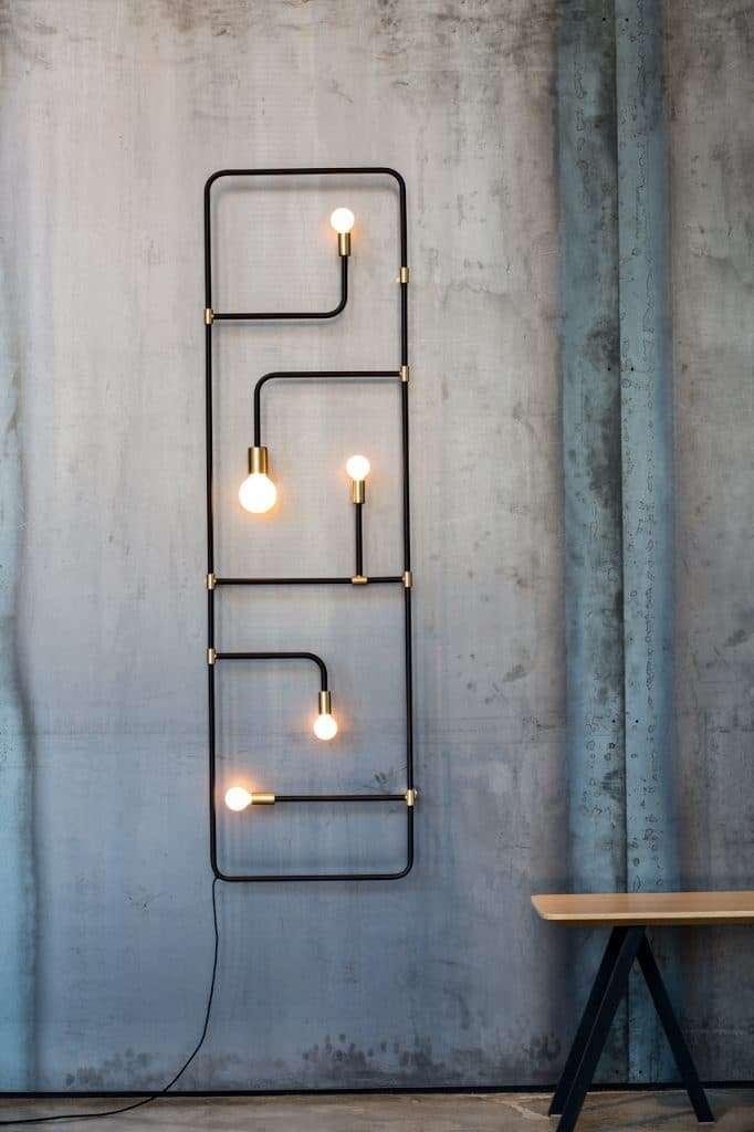 lampadari muro geometrici