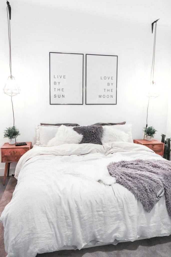 lampadario camera da letto moderna