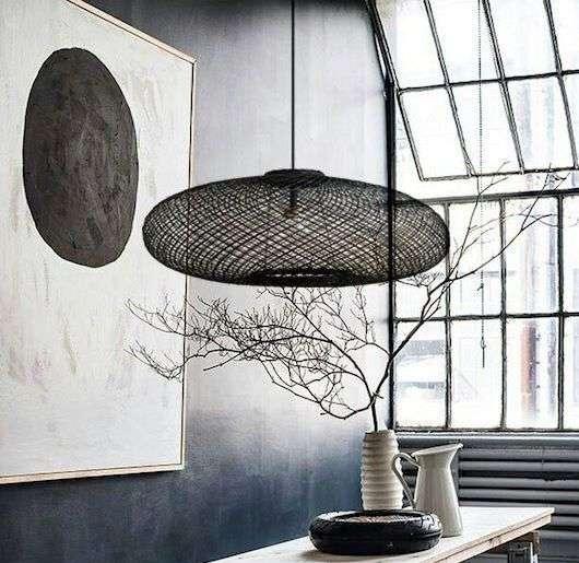lampadario in vetroresina nero