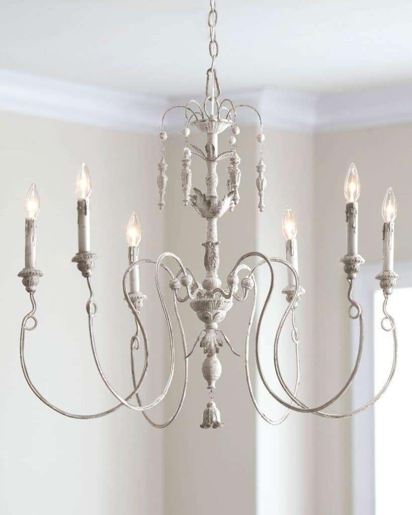 lampadario per camera da letto in stile provenzale