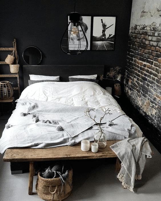 lampadario per camera da letto stile industriale