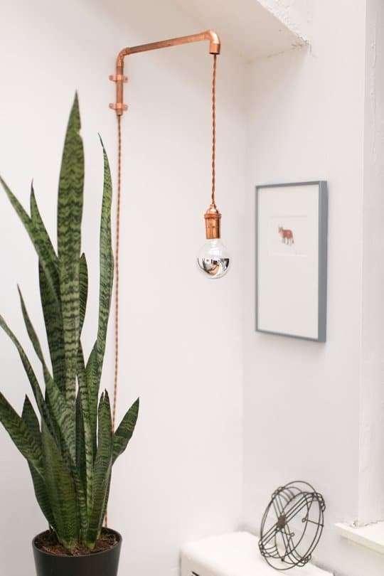 lampade da parete in rame