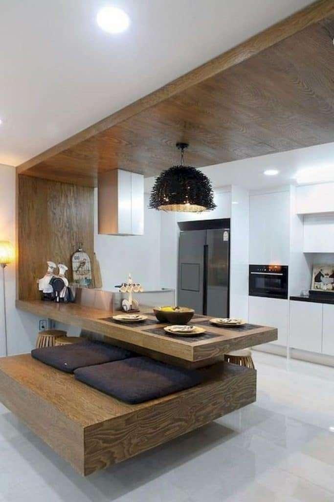 cucina con penisola dal design originale