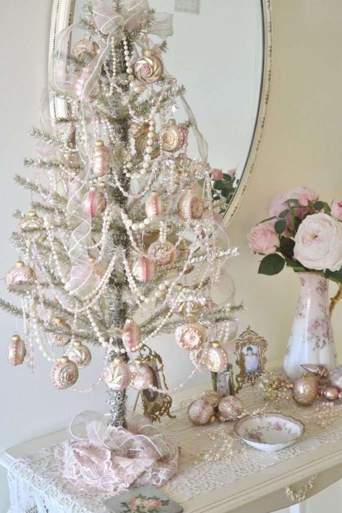 decorazioni natalizie classiche shabby chic