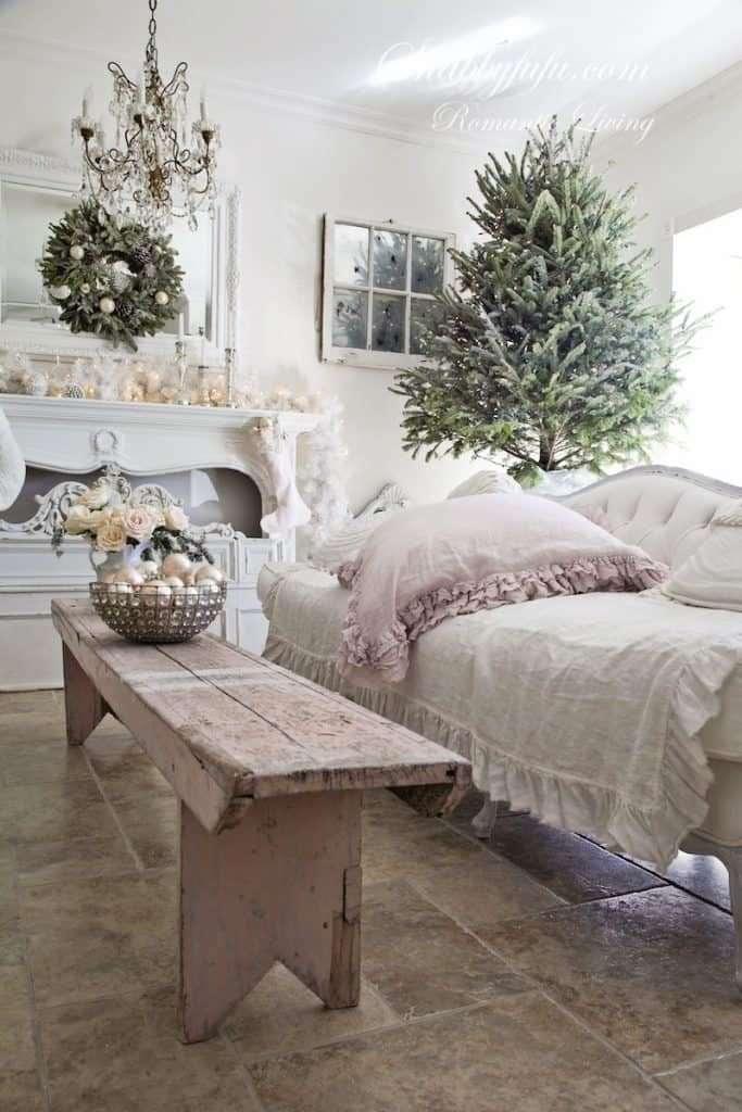 decori natalizi stile shabby chic