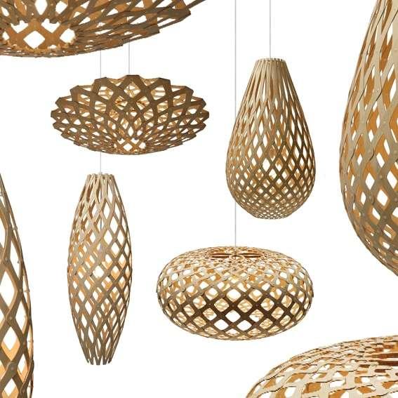 lampadari in legno caleidoscopici