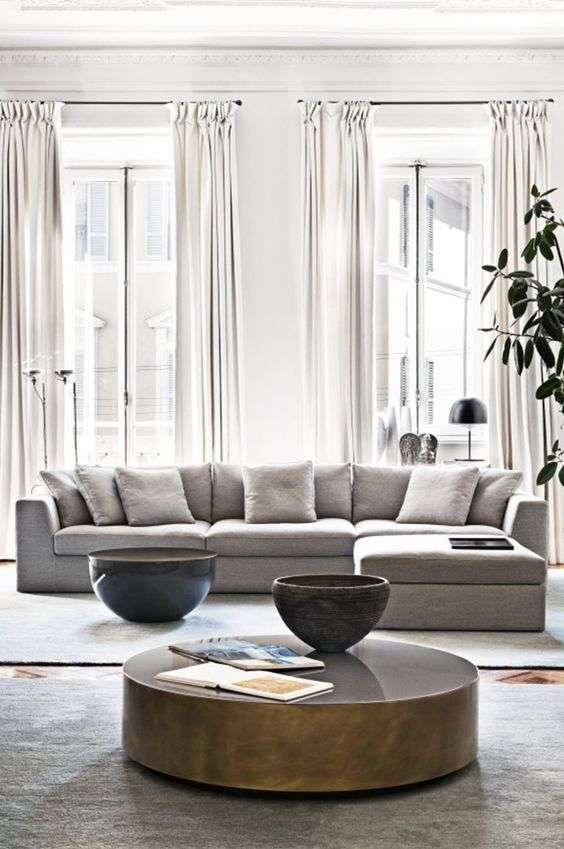 come arredare la zona living con divani