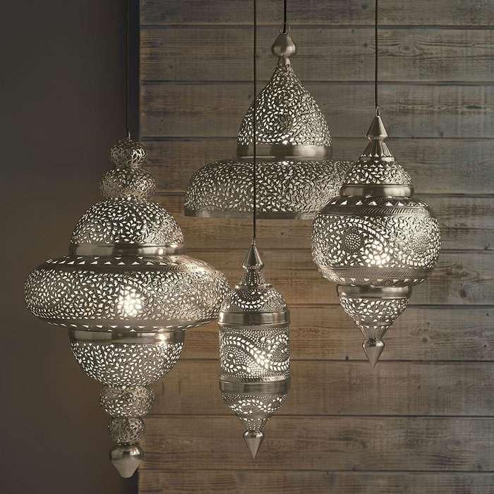 lampadari etnici in metallo