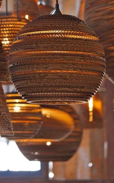 lampadario in bambu