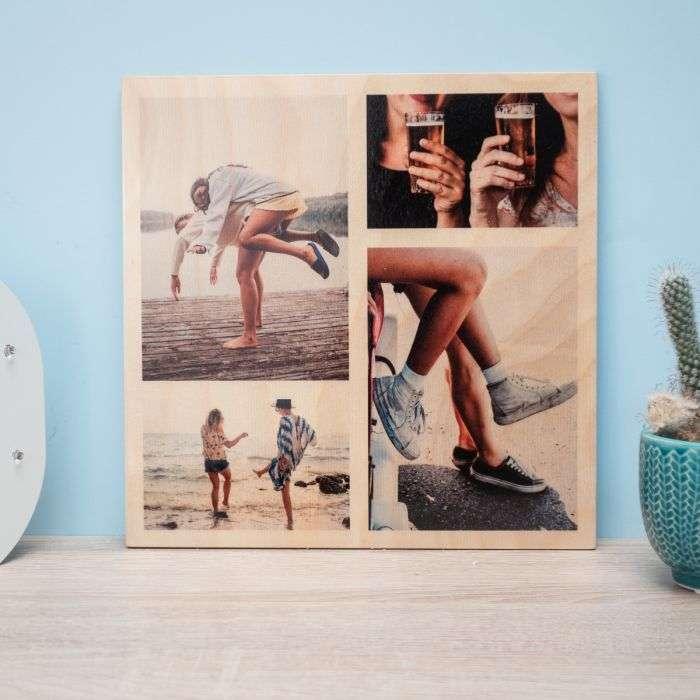 troppotogo quadro in legno con foto