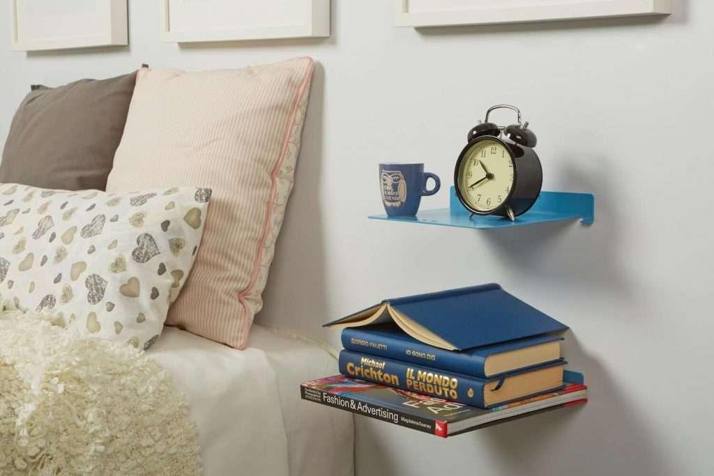 mensole in metallo di design per la camera da letto