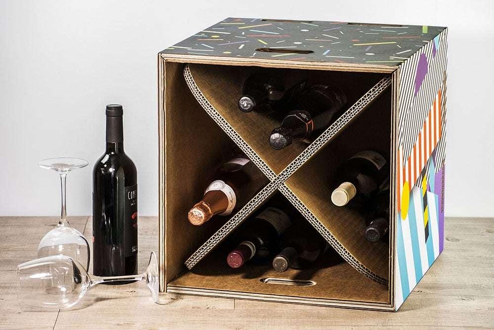 cantinetta per i vini in cartone rippotai