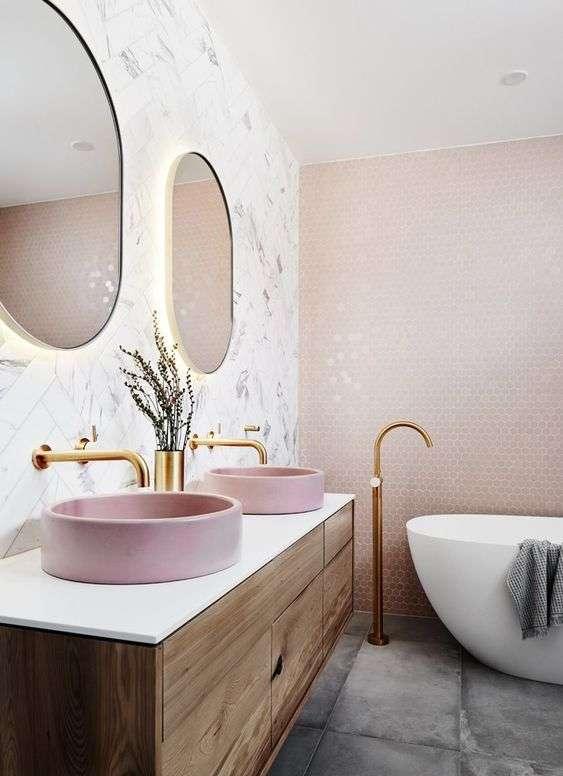 Lavabi da appoggio rosa