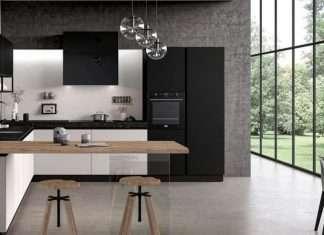 cucina con penisola di design