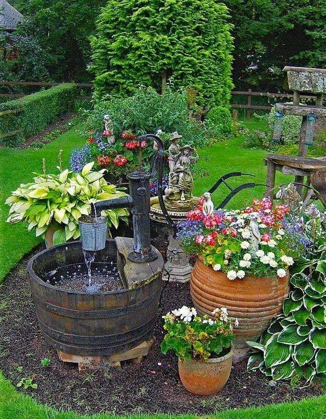 fontana giardino decorativa shabby chic