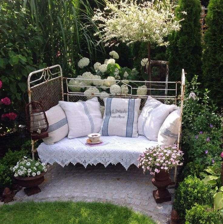 salotti perfetti per giardino shabby chic