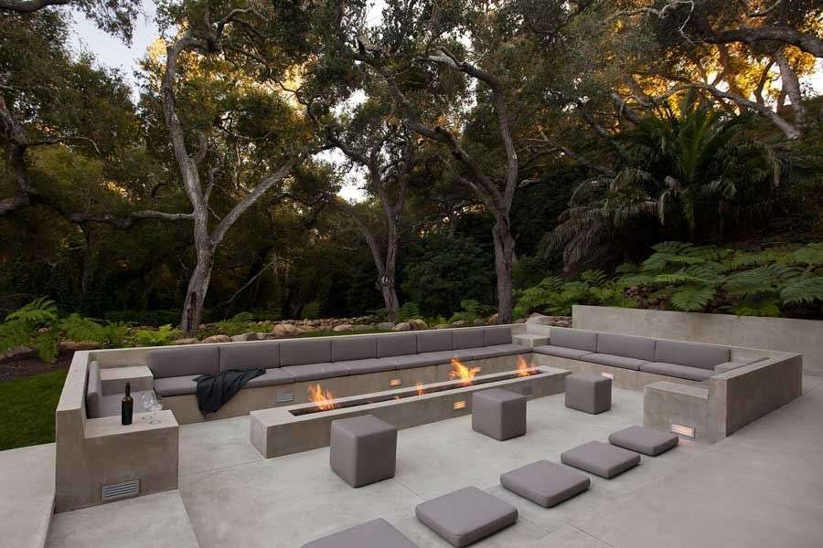 salotto da giardino geometrico minimali
