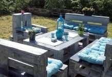 arredamento giardino con bancali salotto