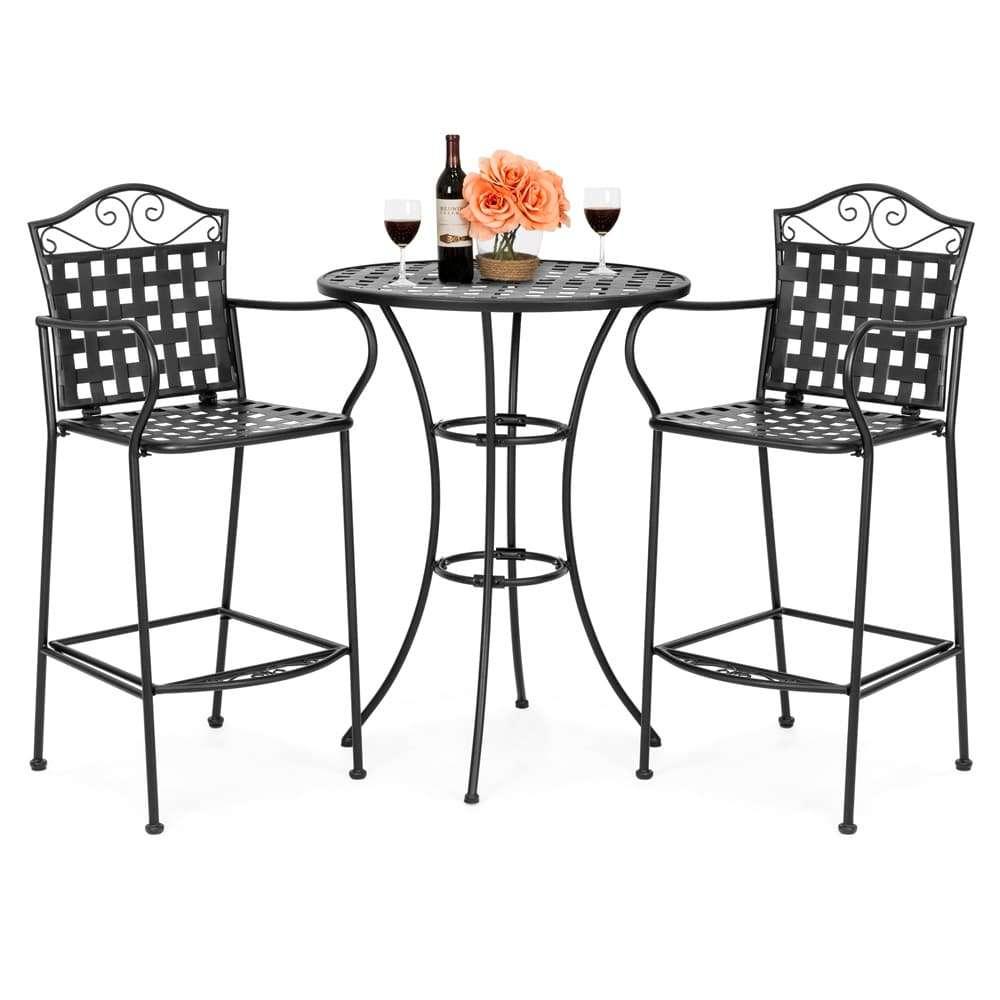 tavolini in ferro da giardino alti