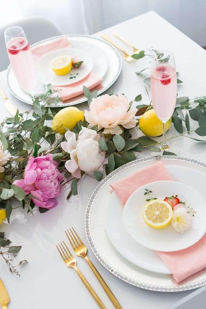 decorazioni per la tavola in stile provenzale