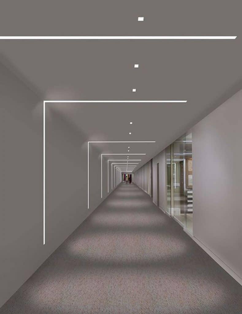 strisce led nei corridoi