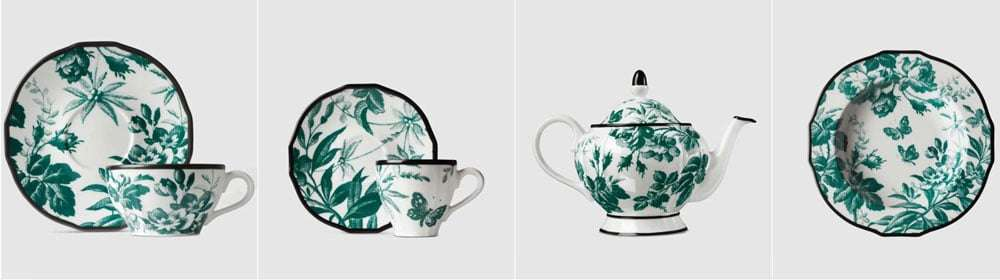 set ceramiche gucci jungle