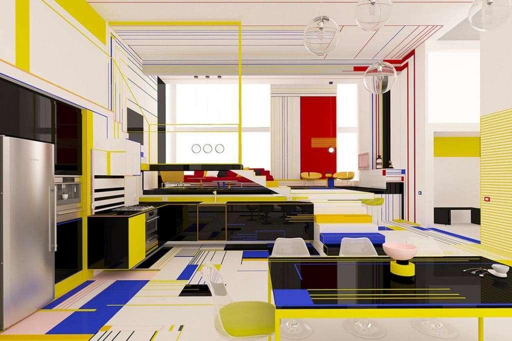 piet mondrian interior design