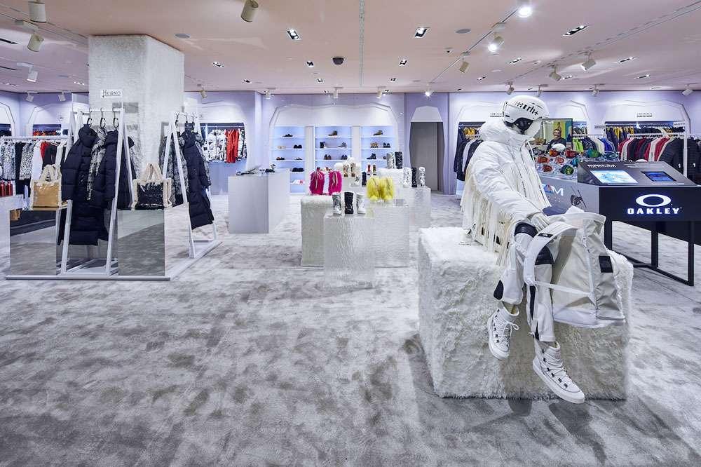 pop-up store di lusso in rinascente