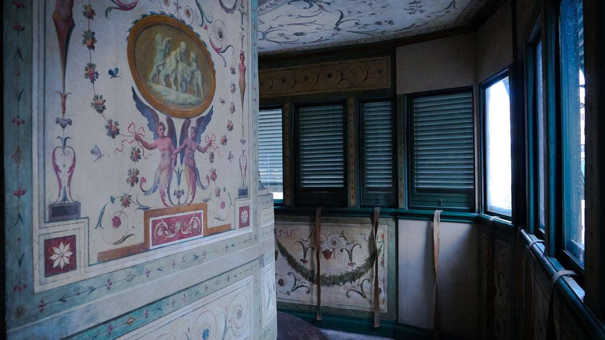 veranda decoro palazzo napoleonico