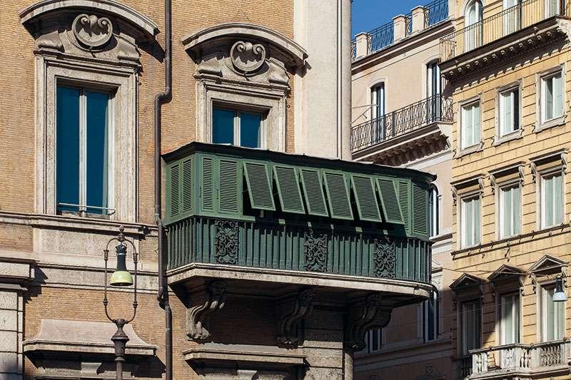 palazzo bonaparte veranda esterno
