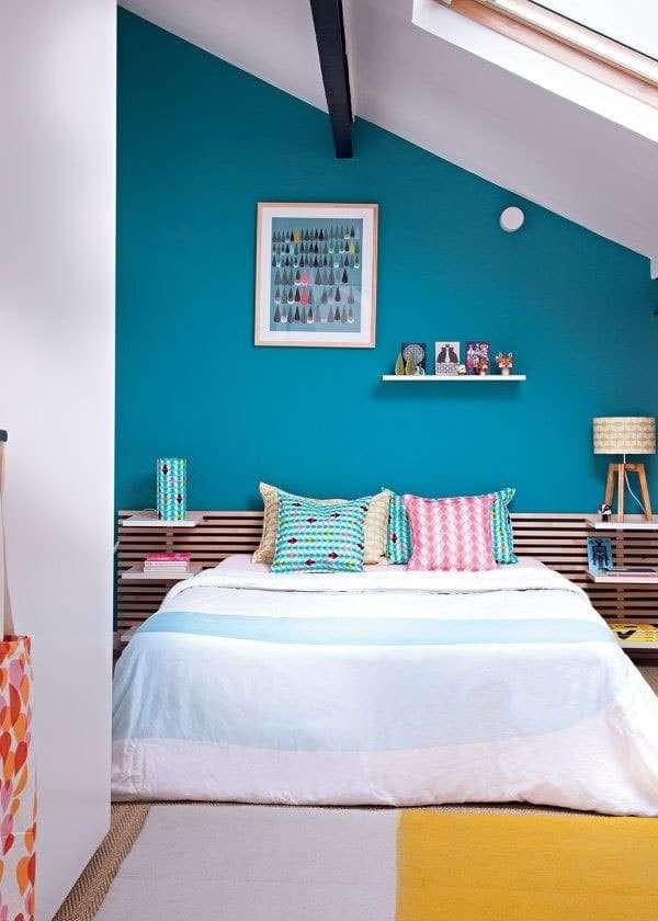 azzurro in camera da letto