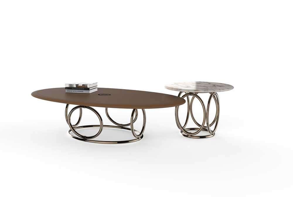 Tavolo da caffè Oval di Trussardi