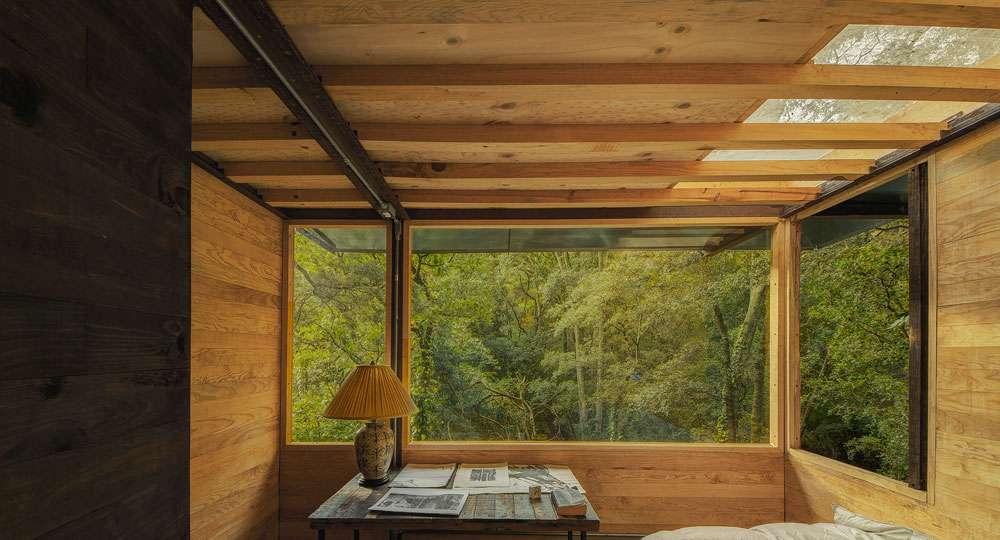 casa flotante nel bosco