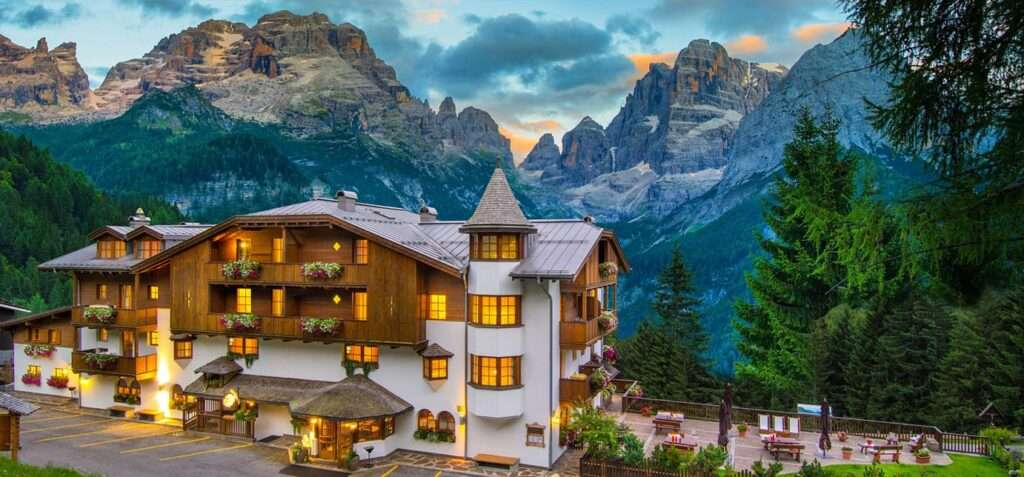 BioHotel Hermitage con vista Dolomiti